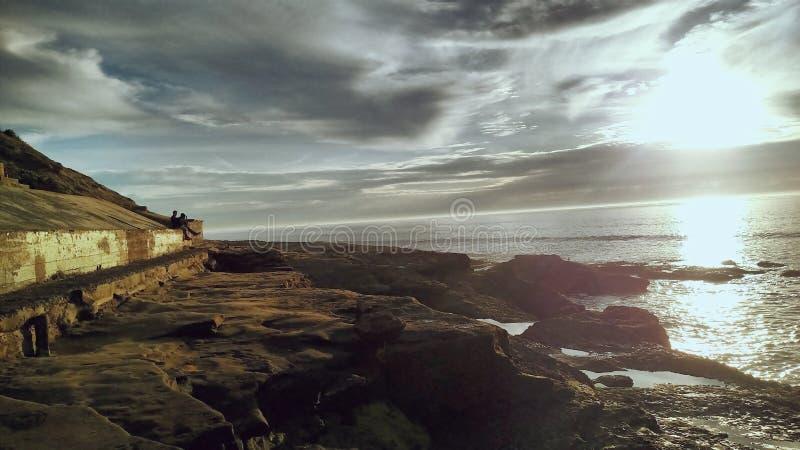 Vue de plage d'océan image libre de droits