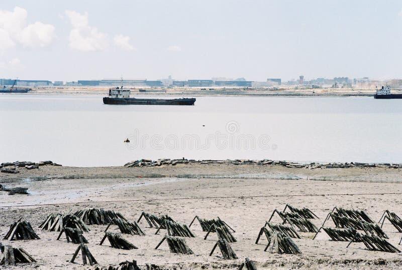 Vue de plage dans la ville Xiamen photo libre de droits