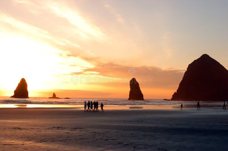 Vue de plage de côte de l'Orégon image libre de droits