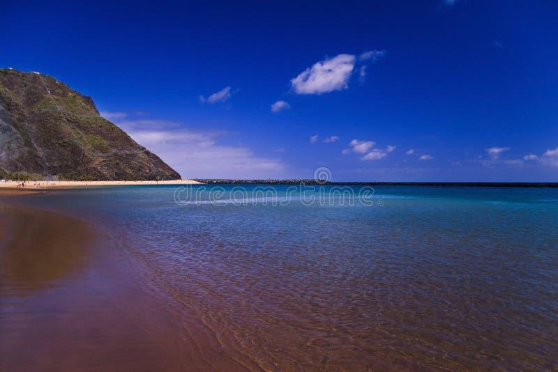 Vue de plage de Tenerife image stock