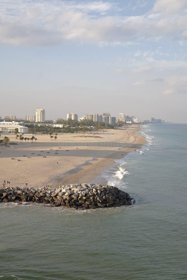 Vue de plage de Fort Lauderdale photographie stock