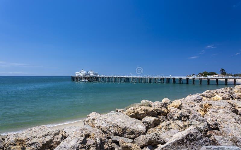 Vue de plage de Malibu et de pilier de Malibu, Malibu, la Californie photos stock