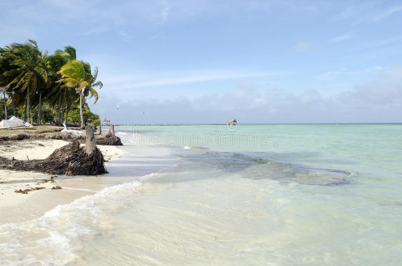 Vue de plage tropicale en Cayo Guillermo image stock