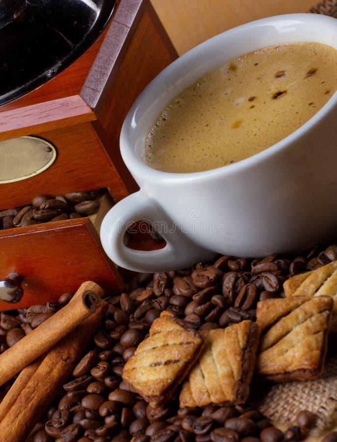 Vue de plan rapproché de café photo stock