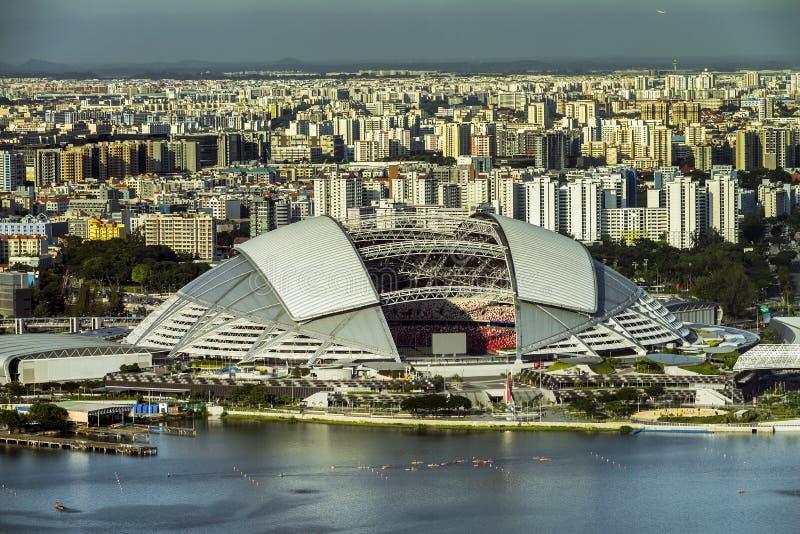 Vue de plan rapproché de hub de sports de Singapour image stock
