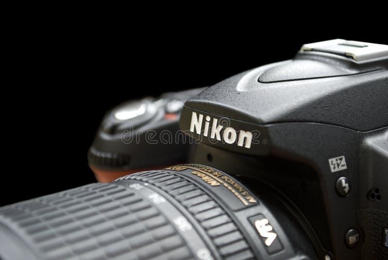 Vue de plan rapproché de photocamera de Nicon images libres de droits