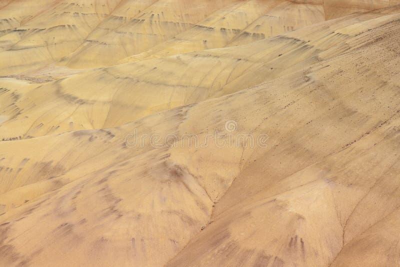 Vue de plan rapproché des collines Painted d'en haut photos stock