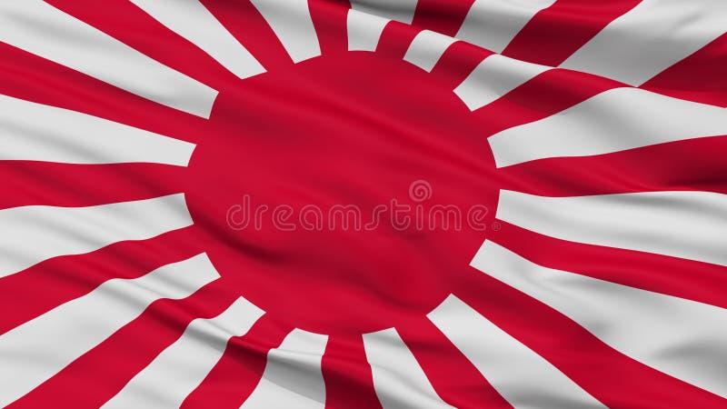 Vue de plan rapproché de drapeau de guerre d'armée de Japonais impérial illustration de vecteur