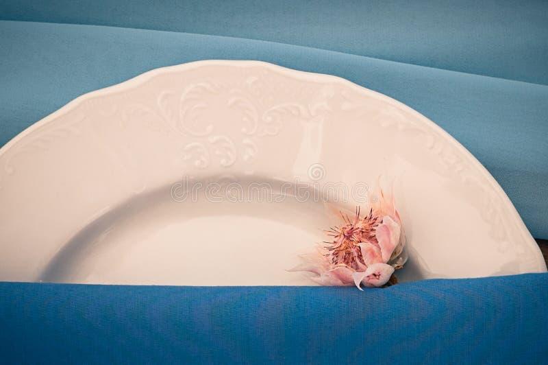 Vue de plan rapproché du mariage ou de tout autre arrangement approvisionné de table d'événement, la Floride photos libres de droits
