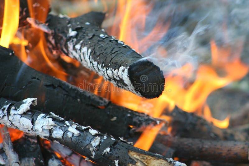 Vue de plan rapproché de feu images stock