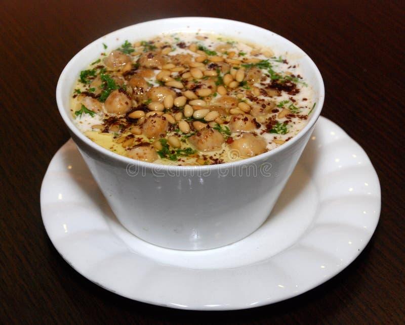 Vue de plat de Fata Middle Eastern du côté photos stock