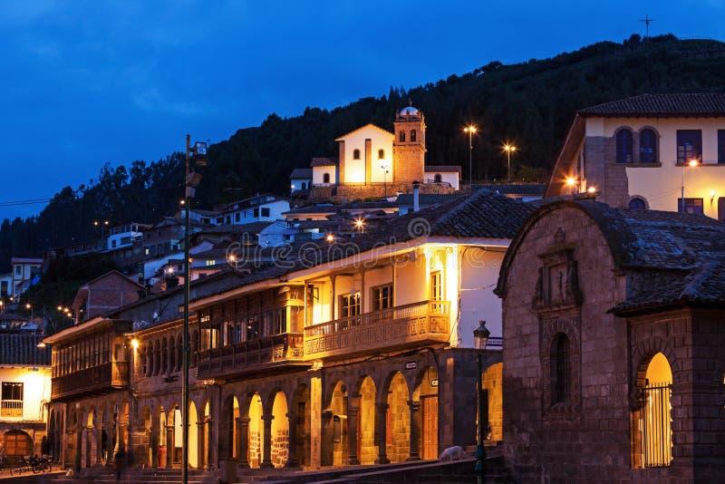 Vue de Plaza de Armas dans Cuzco image stock