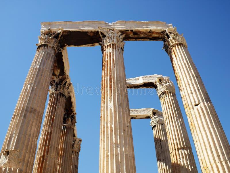 Vue de point de vue centrale de temple de Zeus photos stock