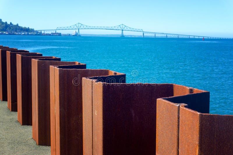 Vue de pont d'Astoria Megler photographie stock libre de droits