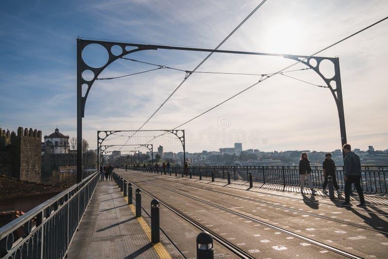 Vue de pont de Luis à Porto photo libre de droits