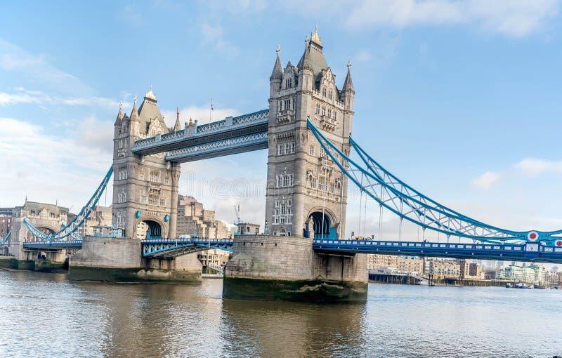 Vue de pont de tour à Londres, Royaume-Uni images libres de droits