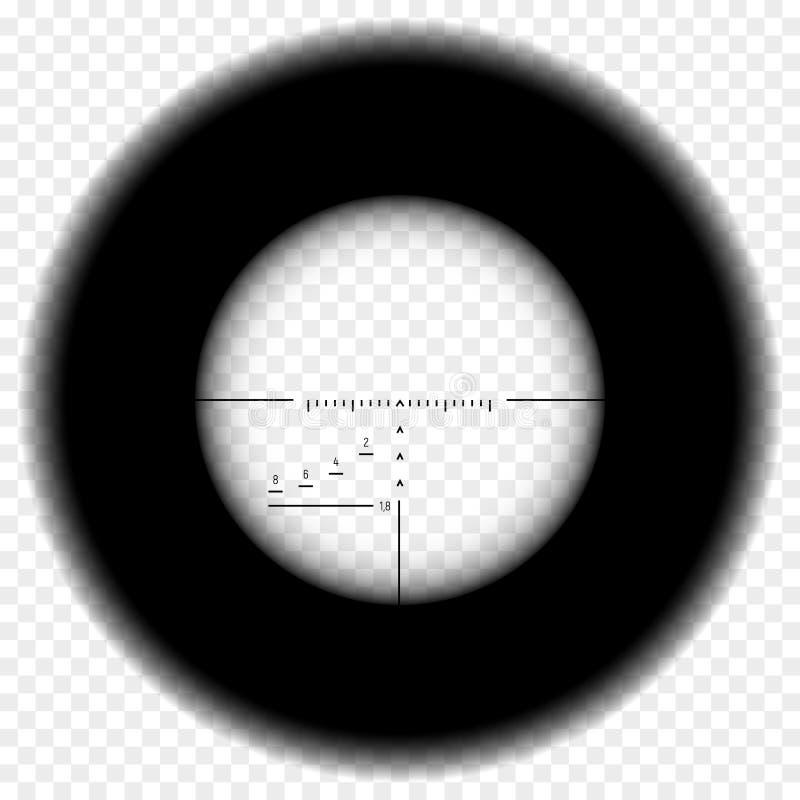 Vue de portée de fusil de tireur isolé illustration de vecteur