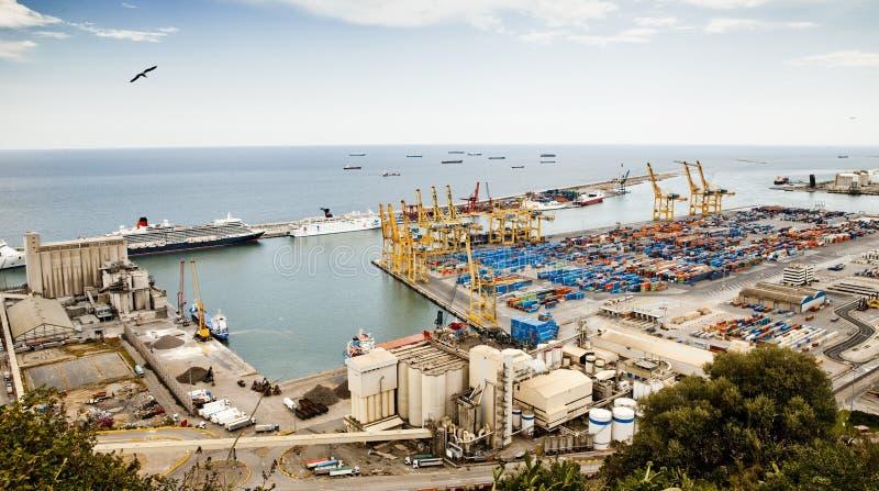 Vue de port à Barcelone photo libre de droits