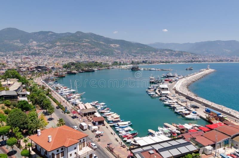 Vue de port d'Alanya à Antalya ; La Turquie photo libre de droits