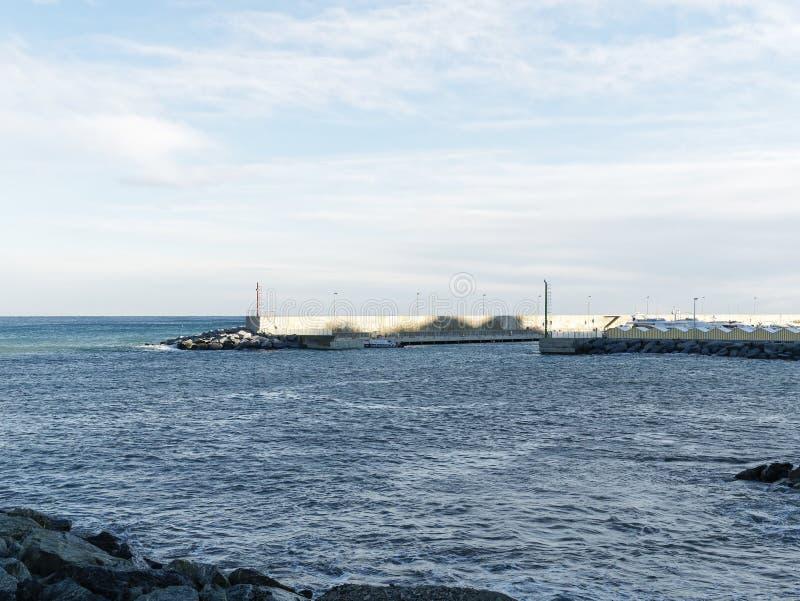 vue de port d'arenzano image libre de droits