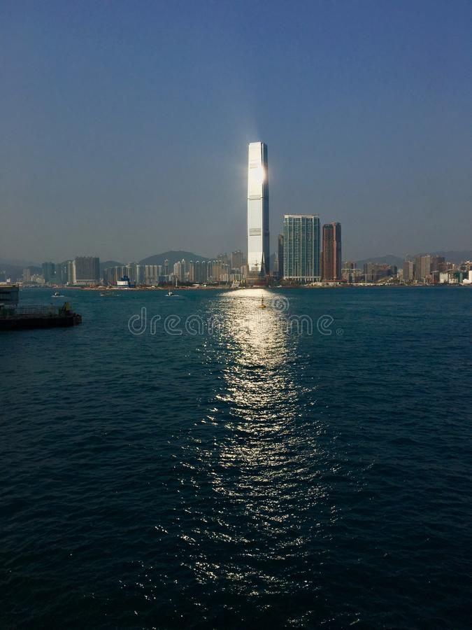 Vue de port de Hong Kong photo stock