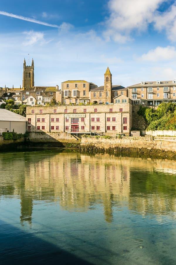 Vue de port de Penzance dans les Cornouailles photographie stock