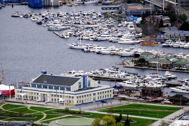 Vue de port de Seattle images stock
