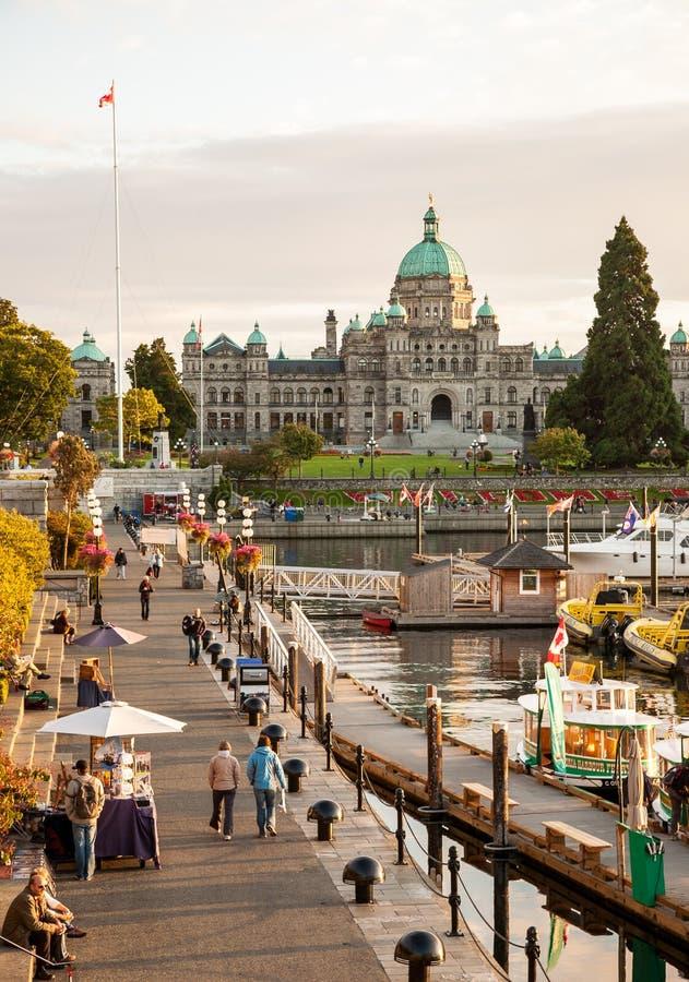 Vue de port intérieur dans Victoria photographie stock libre de droits