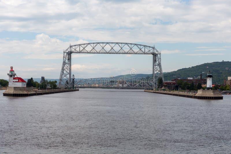 Vue de port de pont aérien historique photo libre de droits
