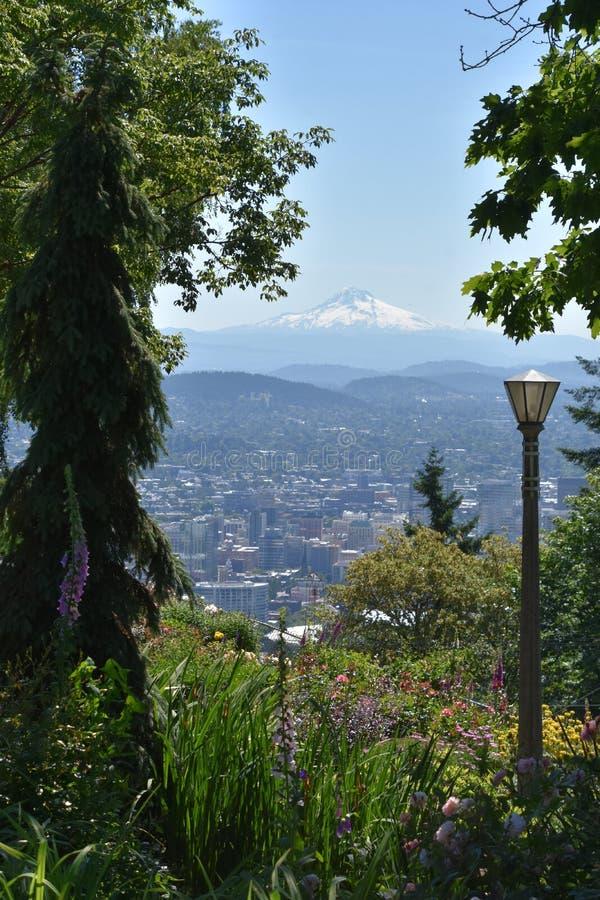 Vue de Portland, Oregon, depuis le Pittock Mansion images libres de droits