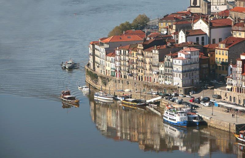 Vue de Porto ribeira photo libre de droits