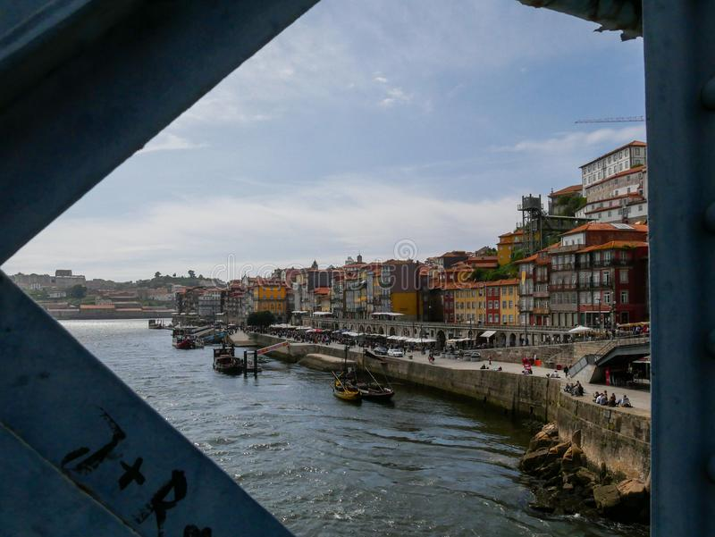 Vue de Porto sur le Douro - Porto - le Portugal photographie stock libre de droits