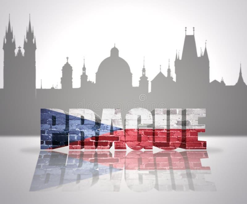 Vue de Prague illustration de vecteur