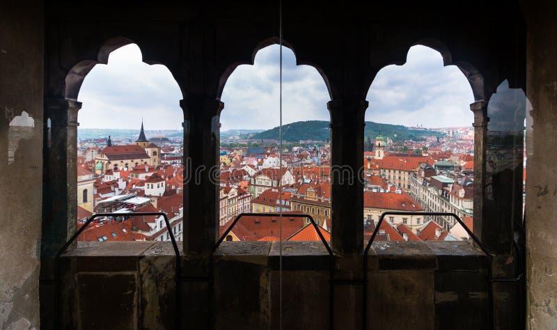 Vue de Prague de la tour d'horloge photos libres de droits