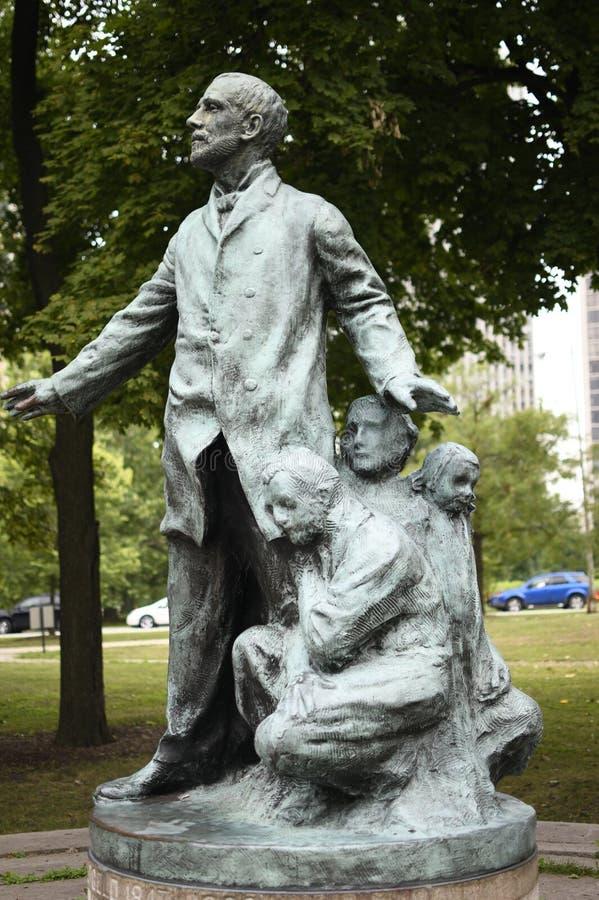 Vue de profil de John Peter Altgeld Monument photographie stock libre de droits