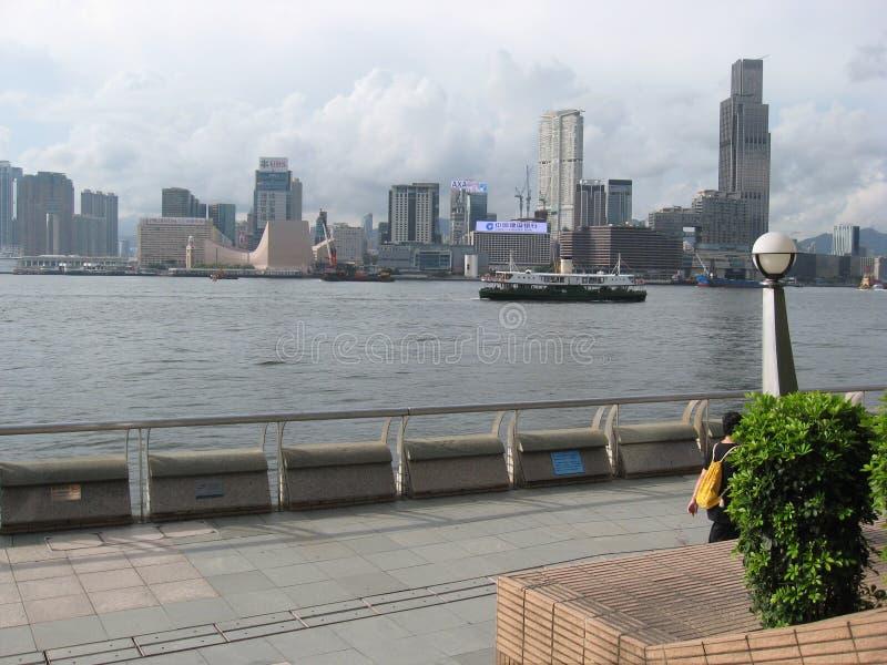Vue de promenade centrale, île principale, Hong Kong photos stock