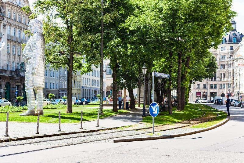 Vue de Promenadeplatz dans la ville de Munich photographie stock libre de droits