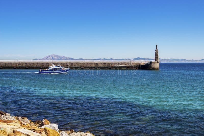 Vue de Punta del Santo à Tarifa, Andalousie Espagne images stock