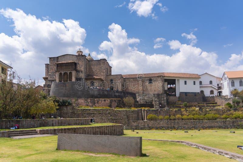 Vue de Qoricancha chez Cusco photo stock