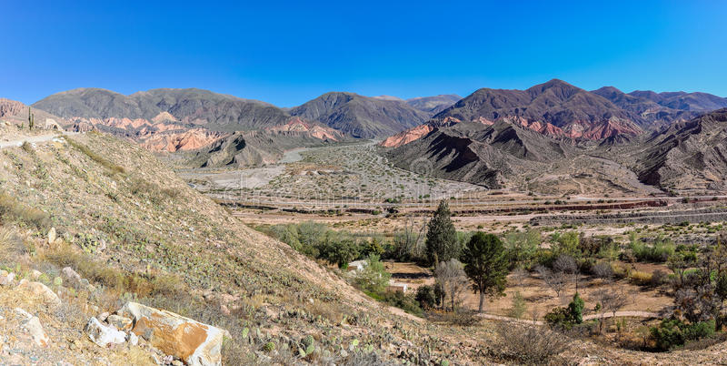 Vue de Quebrada de la Humahuaca, Argentine photographie stock