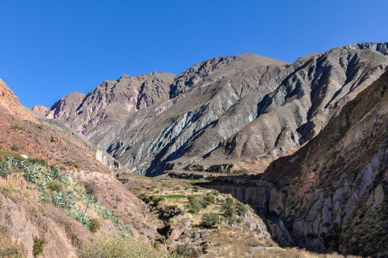 Vue de Quebrada de la Humahuaca dans Iruya, Argentine images libres de droits