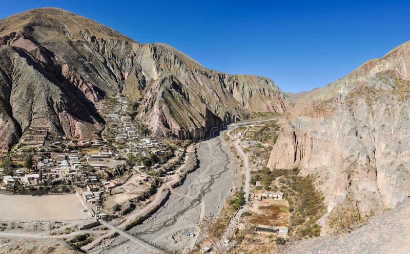 Vue de Quebrada de la Humahuaca dans Iruya, Argentine image libre de droits