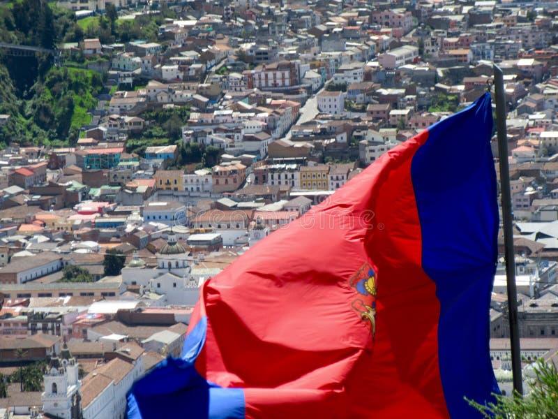 Vue de Quito photo stock