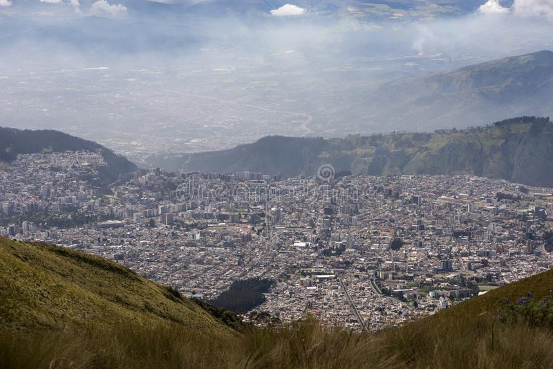 Vue de Quito, capitale de l'Equateur photos libres de droits