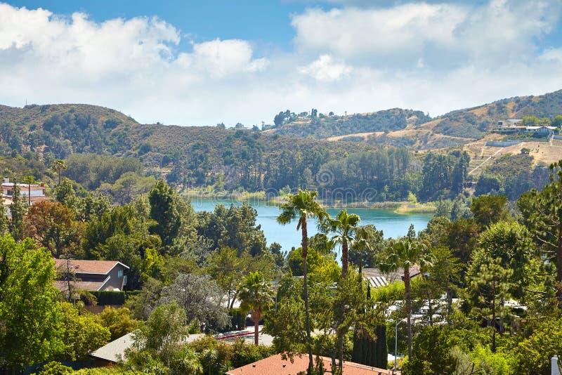 Vue de réservoir de Hollywood, à Los Angeles image libre de droits