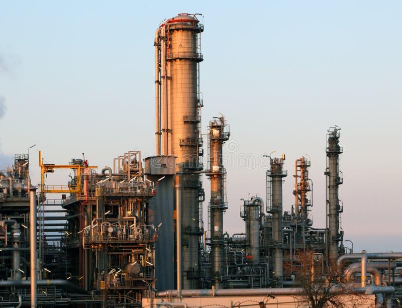 Vue de raffinerie de pétrole image libre de droits