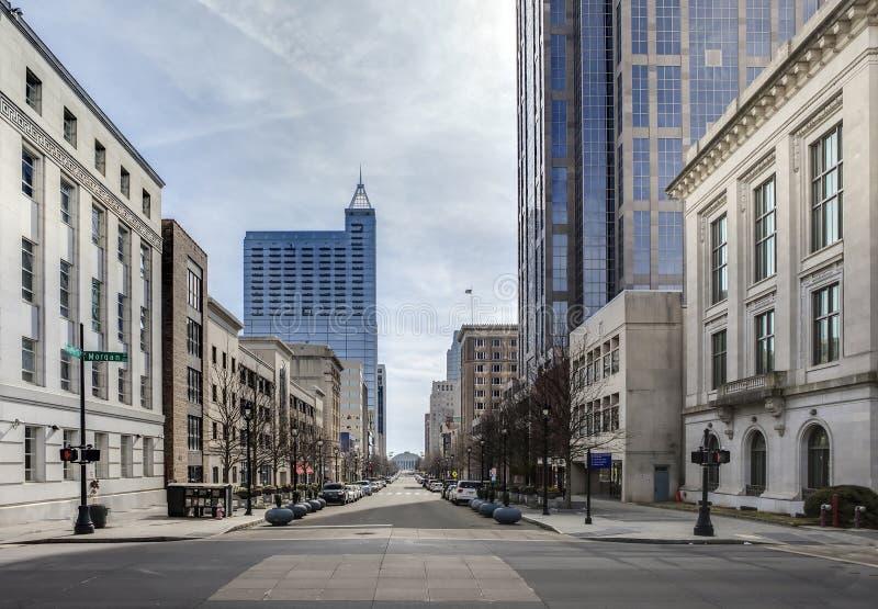 Vue de Raleigh du centre, la Caroline du Nord images libres de droits