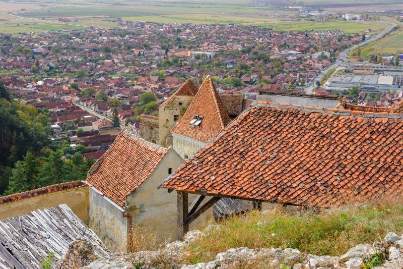 Vue de Rasnov de forteresse La Transylvanie, Brasov photo stock