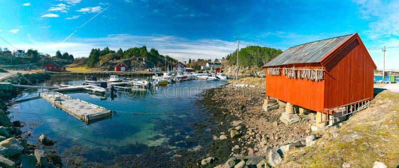 Vue de ressort de marina norvégienne images stock