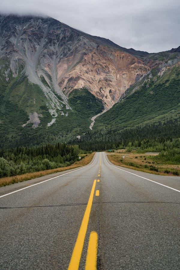 Vue de Richardson Highway près de jonction Alaska de delta images libres de droits